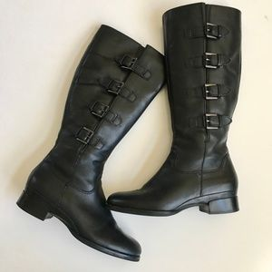 ECCO Sullivan Buckle Riding Boots Size 39